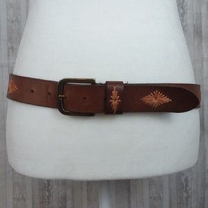 Lucky Brand brown leather belt size S